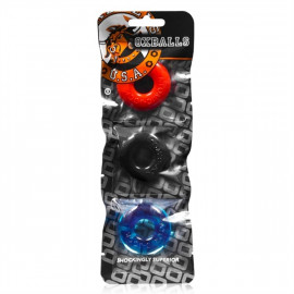 Oxballs Ringer Cock Ring Multi-Color 3ks