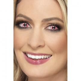 Smiffys Accessoreyes Bloodshot Red - Kontaktní čočky Červená 2 čočky