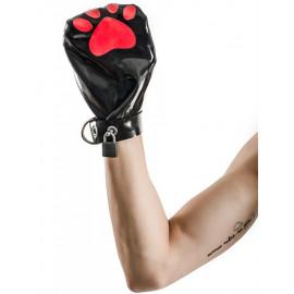 Mister B FETCH Rubber Puppy Mitts Černá-Červená