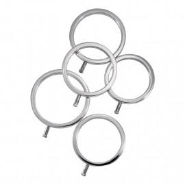 ElectraStim Solid Metal Cock Ring Set 5 Sizes