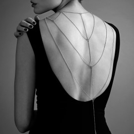 Bijoux Indiscrets Magnifique Back & Cleavage Chain 0273 Stříbrná