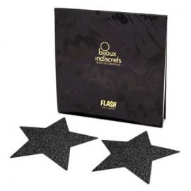 Bijoux Indiscrets Flash Star Černá - ozdoby na bradavky