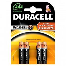 Baterie alkalická Duracell AAA 4ks