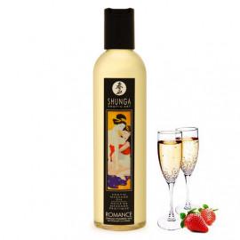 Shunga Erotic Massage Oil Romance - Šampaňské a jahody 250ml