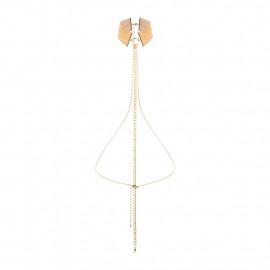 Bijoux Indiscrets Magnifique Collar Gold - Kovový ozdobný obojek Zlatý