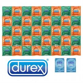 Balíček Durex Orange Apple - 40 kondomů + 2x lubrikační gel Pasante