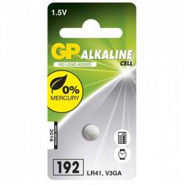 Baterie alkalická knoflíková GP LR41 1,5V 1ks
