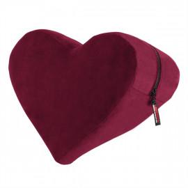 Liberator Heart Wedge Merlot - Erotická podložka pro milování ve tvaru srdce Červená