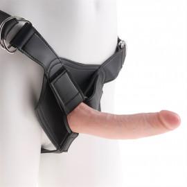 """Pipedream King Cock Strap-on Harness w/ 7"""" Cock - Připínací penis 18cm Tělová"""