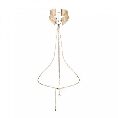 Bijoux Indiscrets Désir Métallique Collar - Kovový ozdobný obojek Zlatý