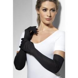 Fever Long Gloves 9363 - Dlouhé rukavičky Černá